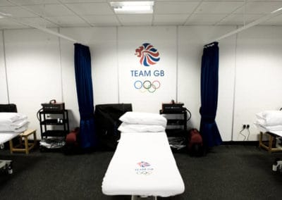 Temporary Physio Treatment Room